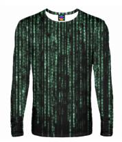 Мужская футболка с длинным рукавом 3D Matrix