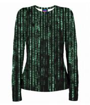 Женская футболка с длинным рукавом 3D Matrix