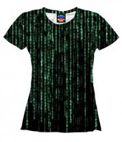 Женская футболка 3D Matrix