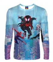 Мужская футболка с длинным рукавом 3D Spider- man