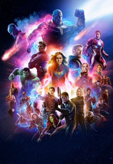 Футболка поло женская 3D Avengers andgame