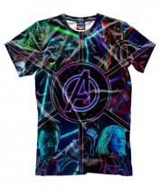 Мужская футболка 3D Мстители