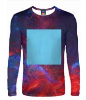Мужская футболка с длинным рукавом 3D Zima Blue