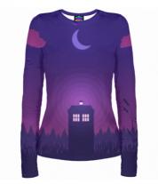 Женская футболка с длинным рукавом 3D Doctor Who