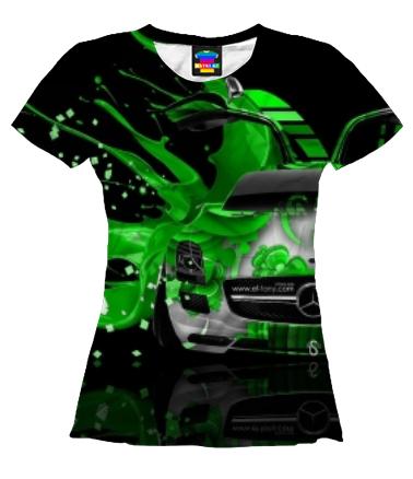 Женская футболка 3D Mercedes