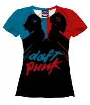 Женская футболка 3D Daft Punk