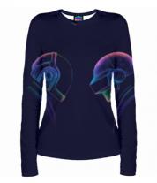 Женская футболка с длинным рукавом 3D Daft Punk