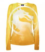 Женская футболка с длинным рукавом 3D Mortal Kombat