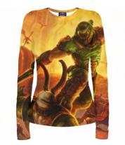 Женская футболка с длинным рукавом 3D Doom
