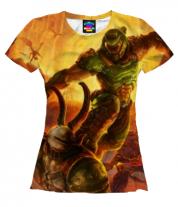Женская футболка 3D Doom