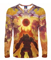 Мужская футболка с длинным рукавом 3D Doom