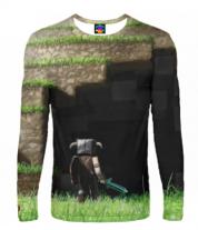 Мужская футболка с длинным рукавом 3D Minecraft