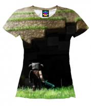 Женская футболка 3D Minecraft