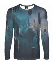 Мужская футболка с длинным рукавом 3D Космос