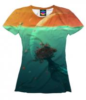 Женская футболка 3D Земля