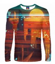 Мужская футболка с длинным рукавом 3D Abstract city