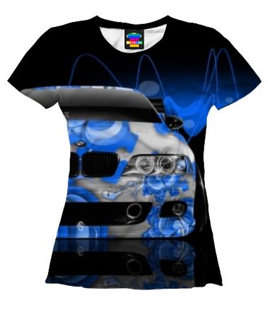 Женская футболка 3D BMW 5
