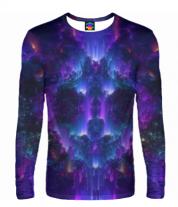 Мужская футболка с длинным рукавом 3D Взрыв абстрактной звезды