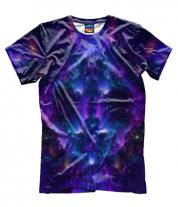 Мужская футболка 3D Взрыв абстрактной звезды