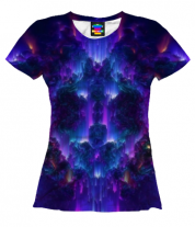 Женская футболка 3D Взрыв абстрактной звезды