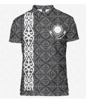 Футболка поло мужская 3D Казахстан