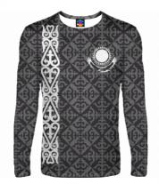 Мужская футболка с длинным рукавом 3D Казахстан