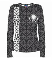 Женская футболка с длинным рукавом 3D Казахстан