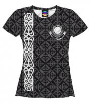Женская футболка 3D Казахстан