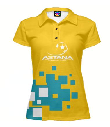 Футболка поло женская 3D FC ASTANA