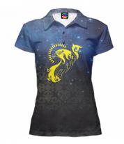 Футболка поло женская 3D Kazakhstan