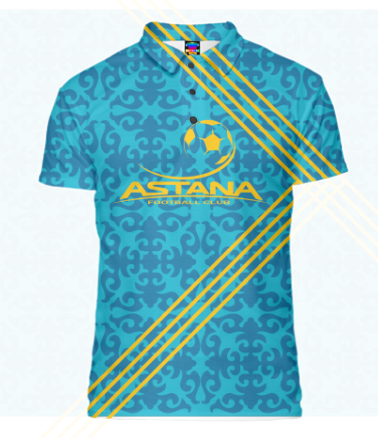 Футболка поло мужская 3D FC ASTANA