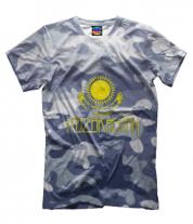 Мужская футболка 3D Kazakhstan