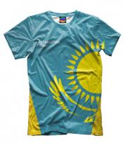 Мужская футболка 3D Kazakhstan team