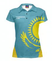 Футболка поло женская 3D Kazakhstan team