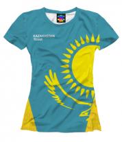 Женская футболка 3D Kazakhstan team