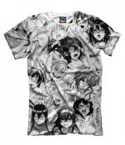 Мужская футболка 3D Ахегао