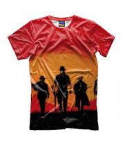 Детская футболка 3D red dead redemption 2