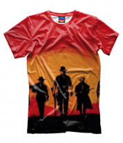 Мужская футболка 3D red dead redemption 2