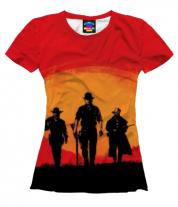 Женская футболка 3D red dead redemption 2