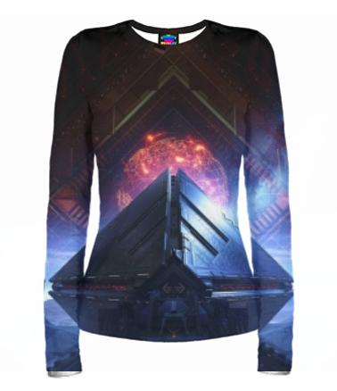 Женская футболка с длинным рукавом 3D Destiny 2
