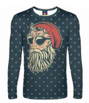Мужская футболка с длинным рукавом 3D Santa Хипстер