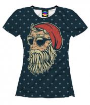 Женская футболка 3D Santa Хипстер