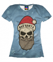Женская футболка 3D BAD SANTA