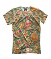 Детская футболка 3D Стикеры новогодние