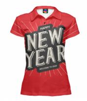 Футболка поло женская 3D Новый год 2020