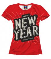 Женская футболка 3D Новый год 2020