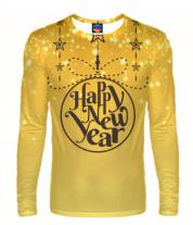 Мужская футболка с длинным рукавом 3D Новый год 2020
