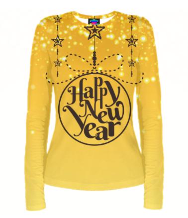 Женская футболка с длинным рукавом 3D Новый год 2020