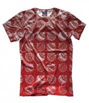 Мужская футболка 3D Ёлочные украшения