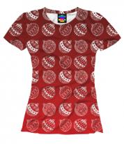 Женская футболка 3D Ёлочные украшения